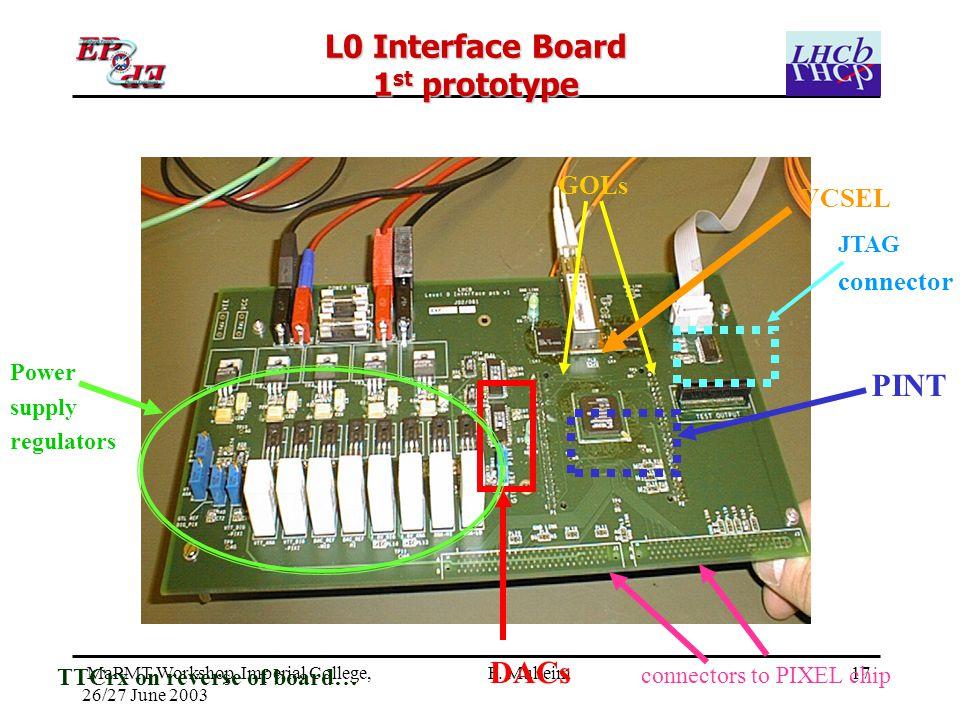 17 MaPMT Workshop, Imperial College, 26/27 June 2003 F.