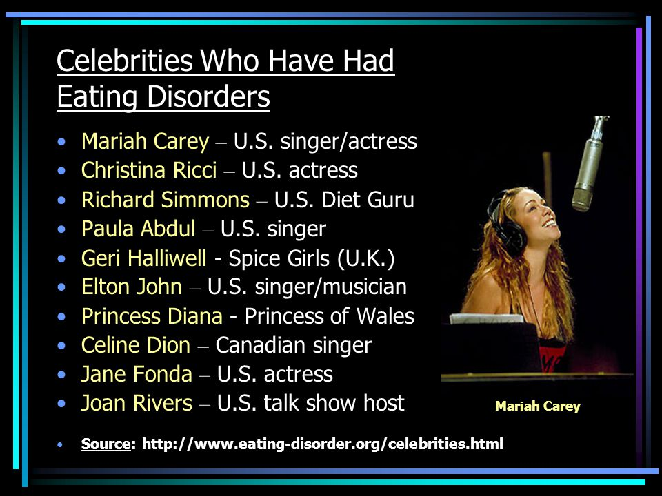 Celebrities Who Have Had Eating Disorders Mariah Carey – U.S.