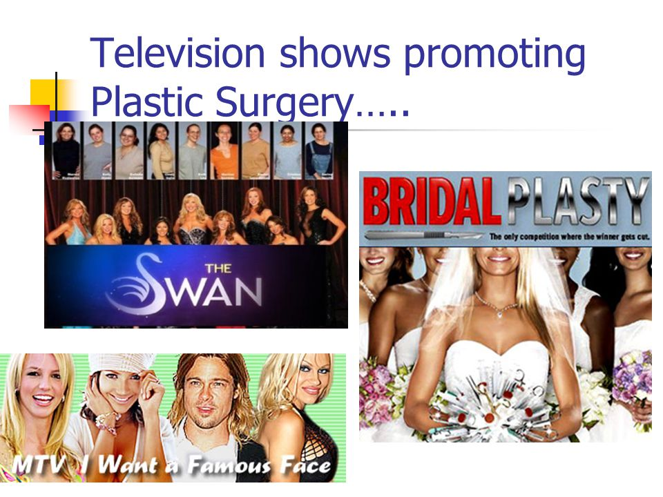 Television shows promoting Plastic Surgery…..