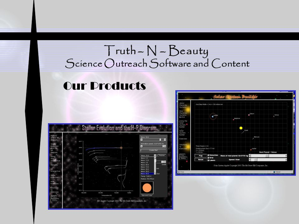 Truth – N – Beauty Science Outreach Software and Content Our Products