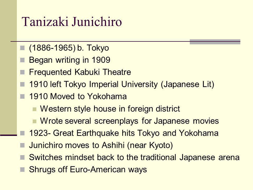 Tanizaki Junichiro (1886-1965) b.