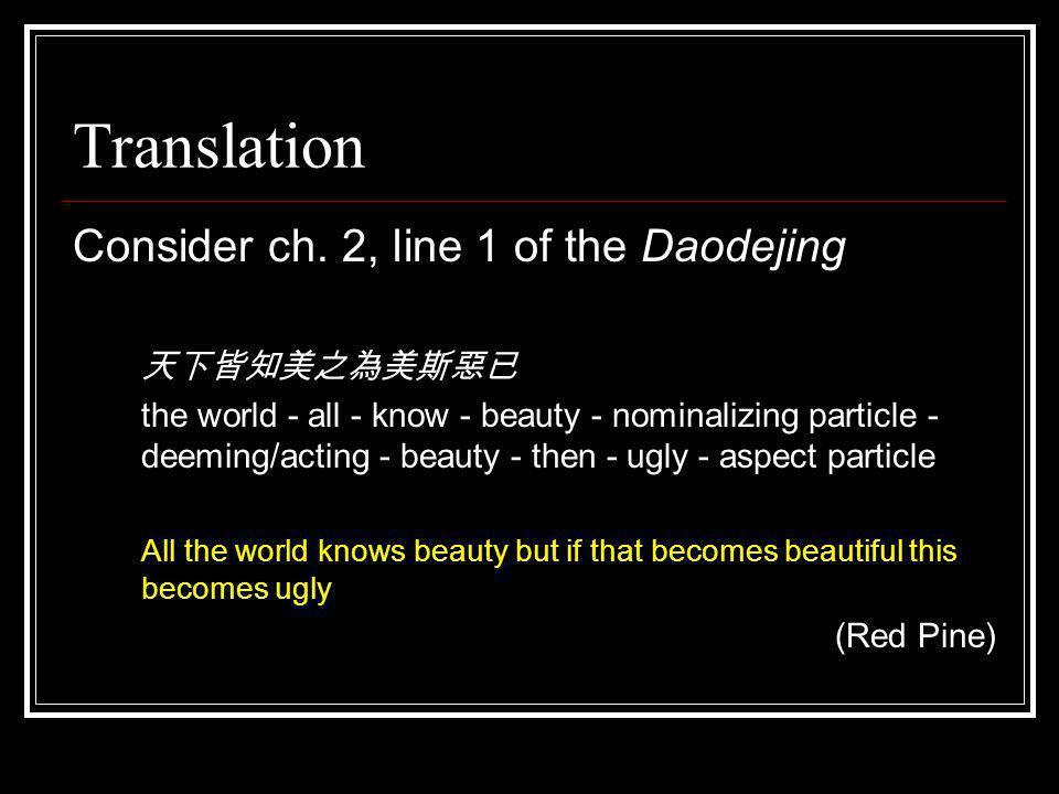 Translation Consider ch.
