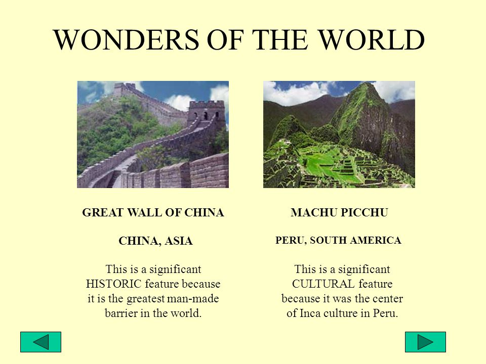 TOUR DIRECTOR MRS. KATRAK - GEOGRAPHY Around the World Tour Join Pierce Middle School for a vacation to the Wonders of the World. Travel is one of lif