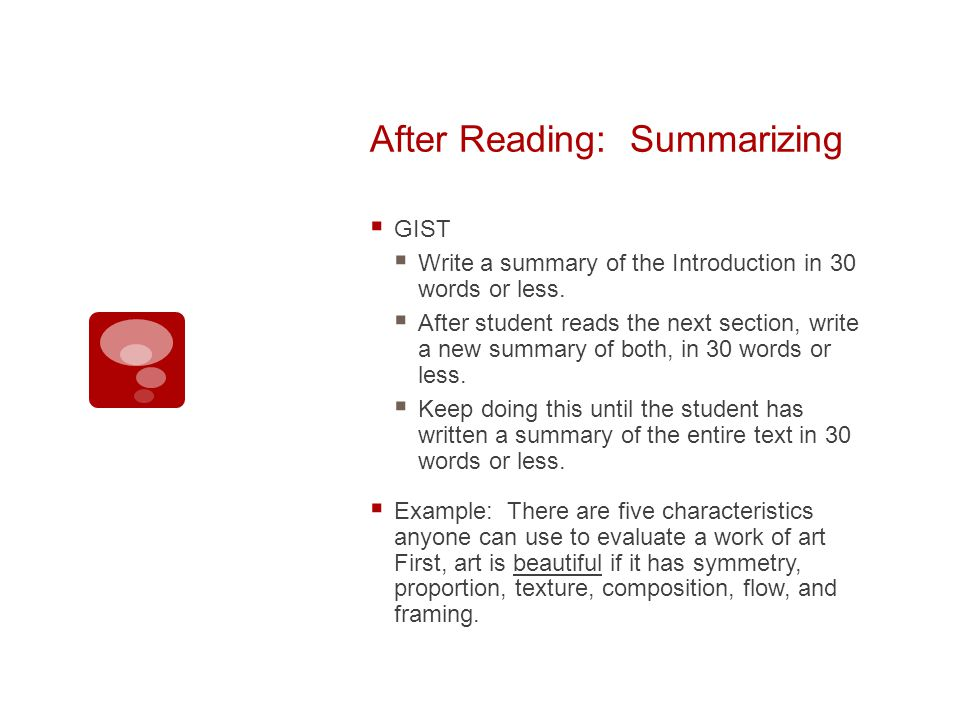 After Reading: Summarizing GIST Write a summary of the Introduction in 30 words or less.