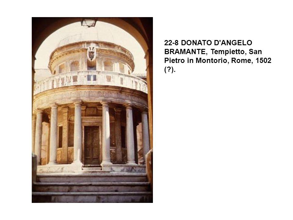 22-8 DONATO D'ANGELO BRAMANTE, Tempietto, San Pietro in Montorio, Rome, 1502 (?).