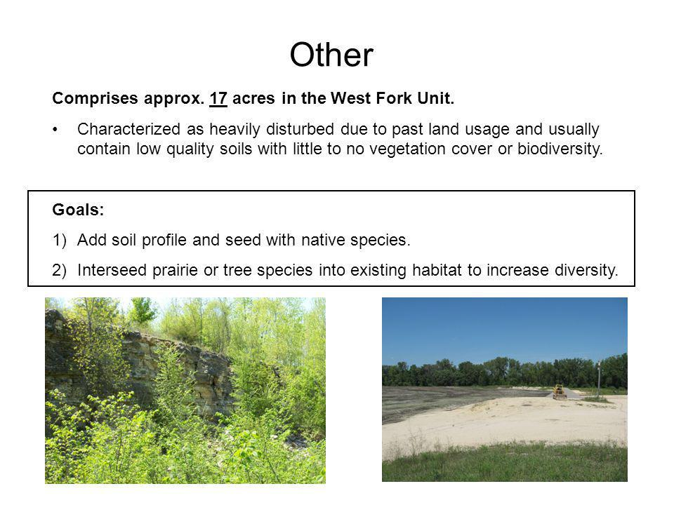 Other Comprises approx. 17 acres in the West Fork Unit.