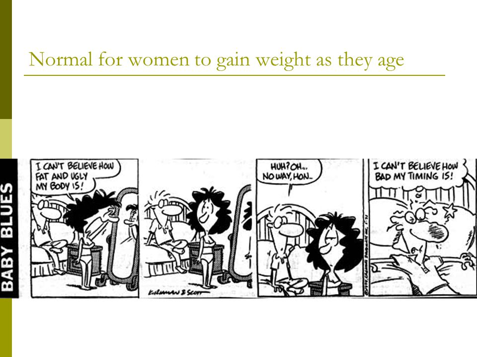 Normal for women to gain weight as they age