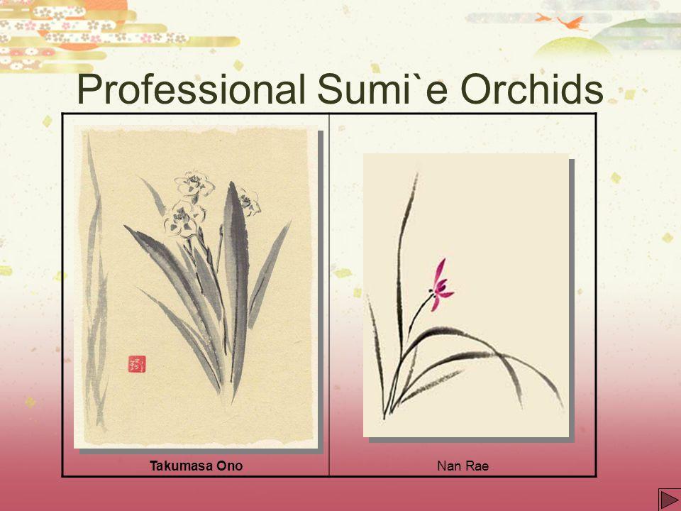 Professional Sumi`e Orchids Takumasa OnoNan Rae