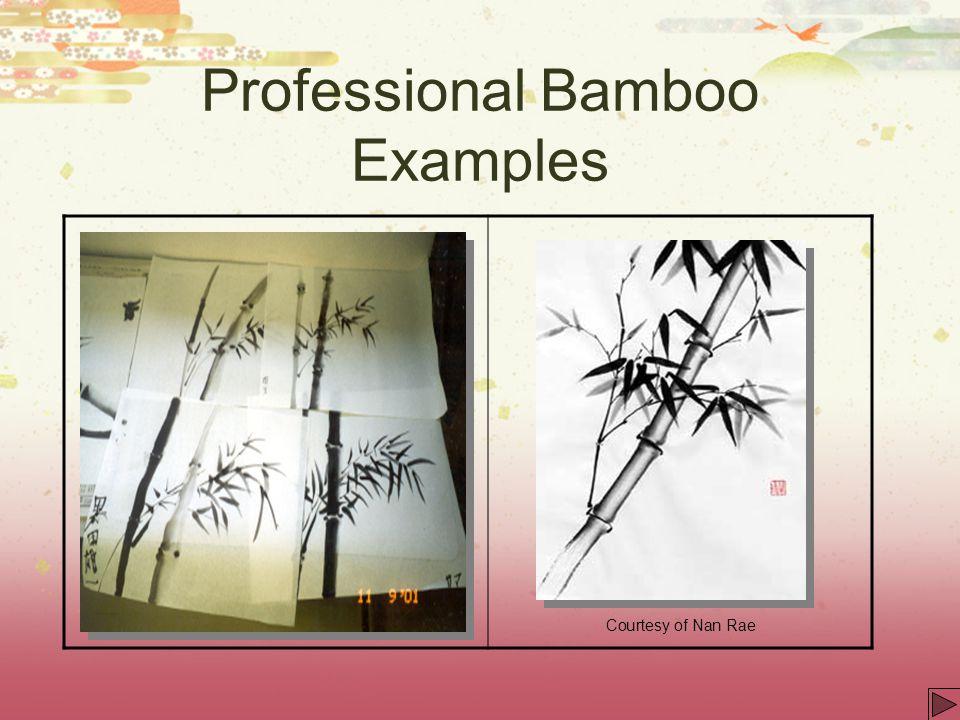 Professional Bamboo Examples Courtesy of Nan Rae