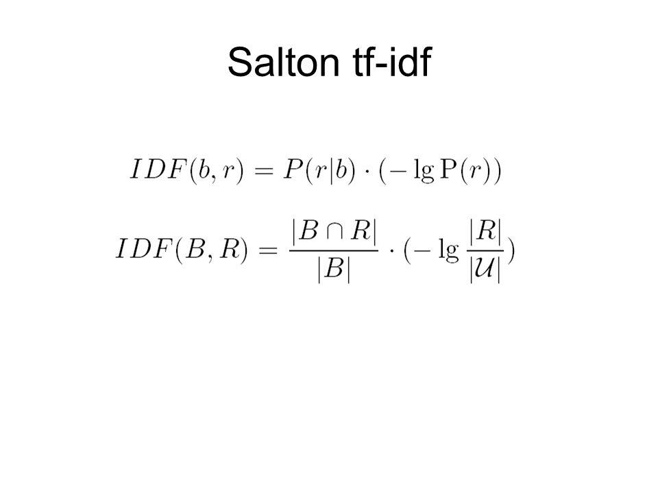 Salton tf-idf