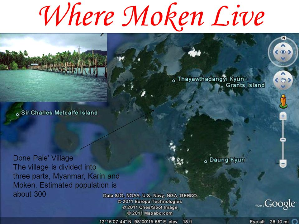 Where Moken Live La Ngang Village Population estimate is about 150