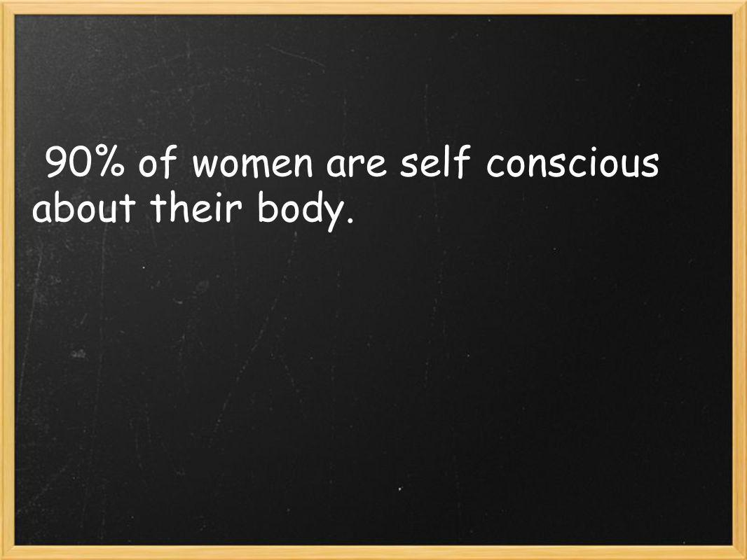 90% of women are self conscious about their body.
