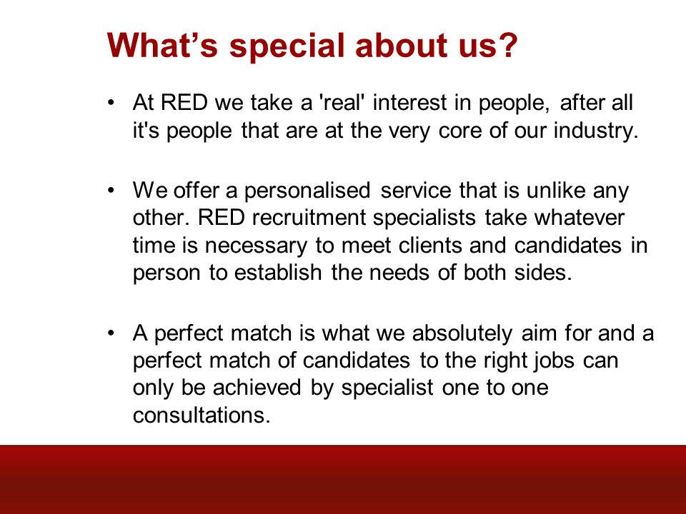 Whats special about us.