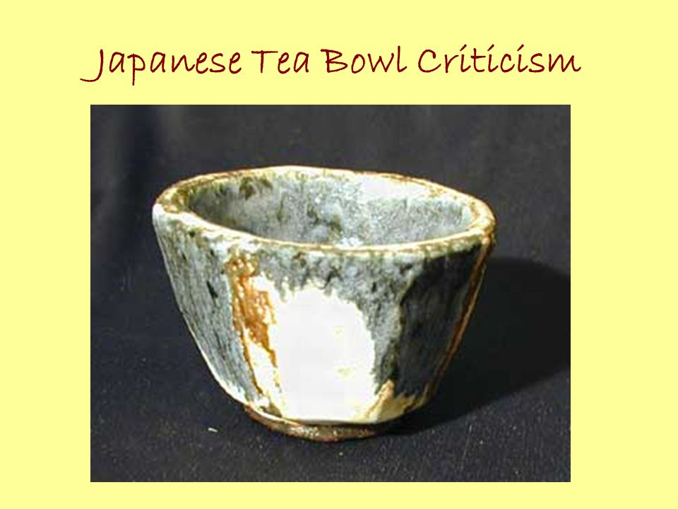 Japanese Tea Bowl Criticism