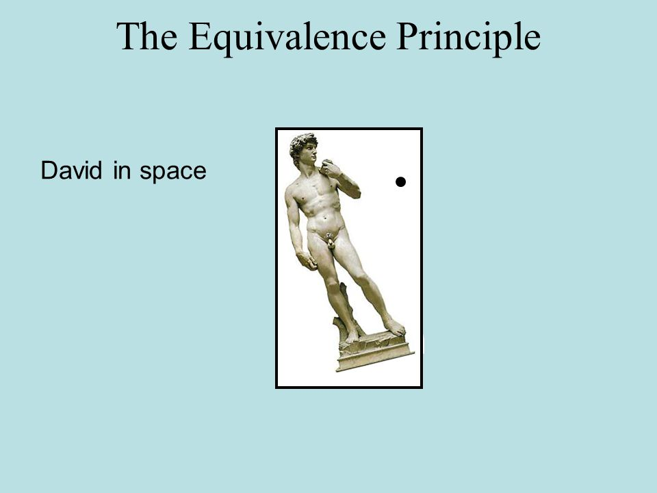 The Equivalence Principle David in space