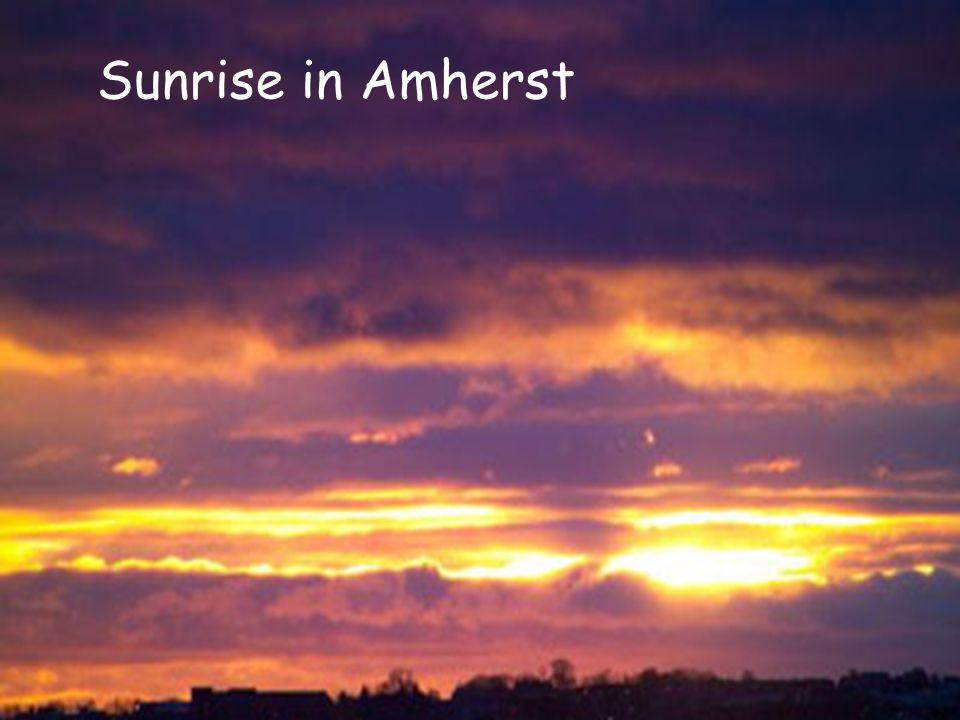Sunrise in Amherst