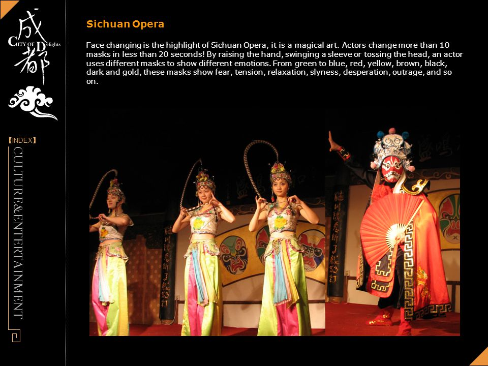 [] INDEX - Designed by Panny Sichuan Opera Face changing is the highlight of Sichuan Opera, it is a magical art.
