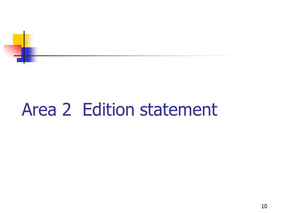 10 Area 2 Edition statement