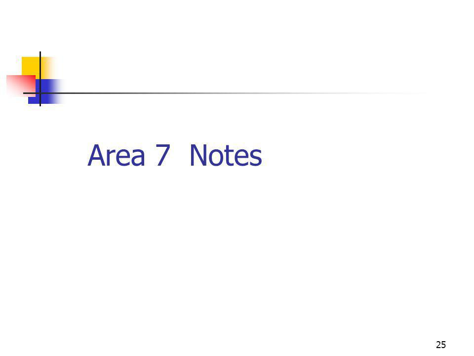 25 Area 7 Notes