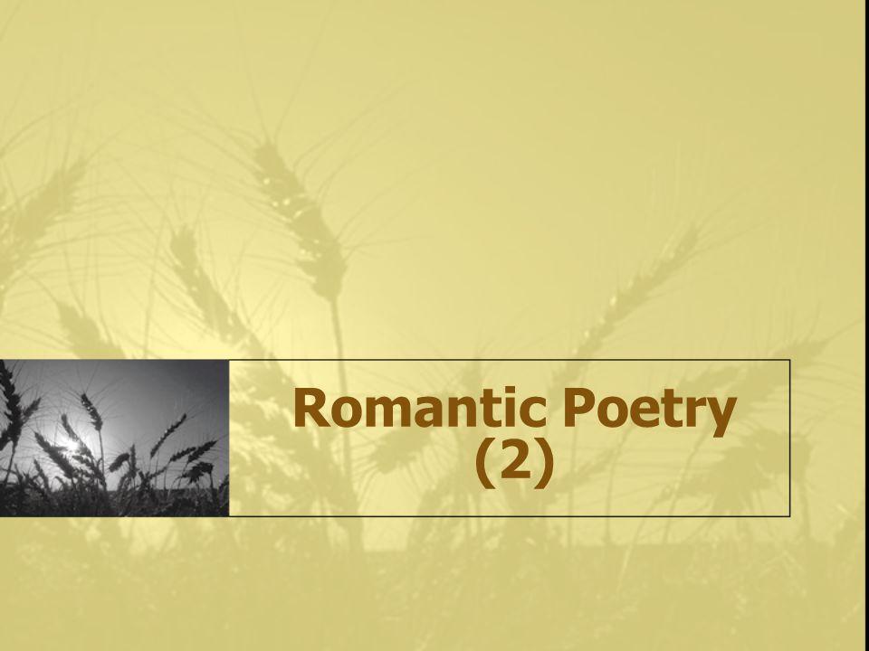 Romantic Poetry (2)