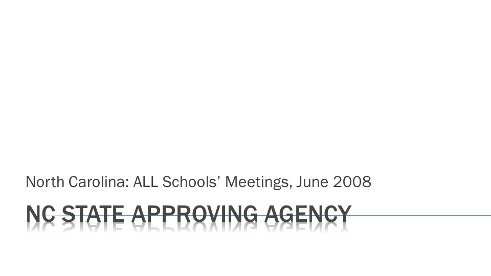 North Carolina: ALL Schools Meetings, June 2008