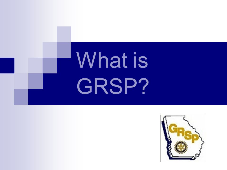What is GRSP?