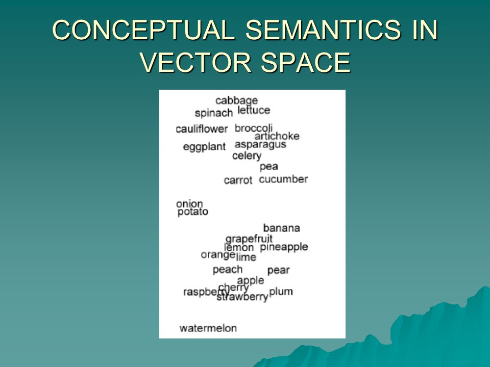 CONCEPTUAL SEMANTICS IN VECTOR SPACE