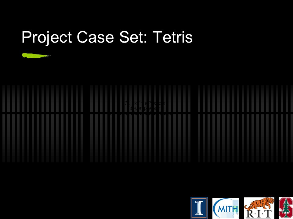 Project Case Set: Tetris