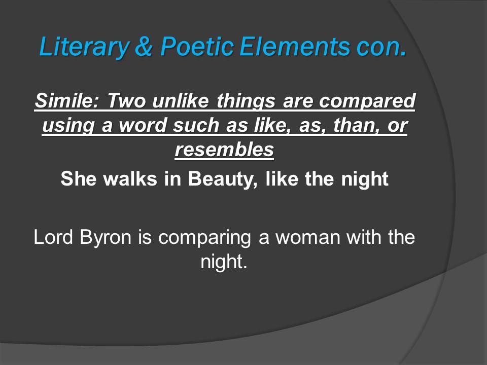Literary & Poetic Elements con.
