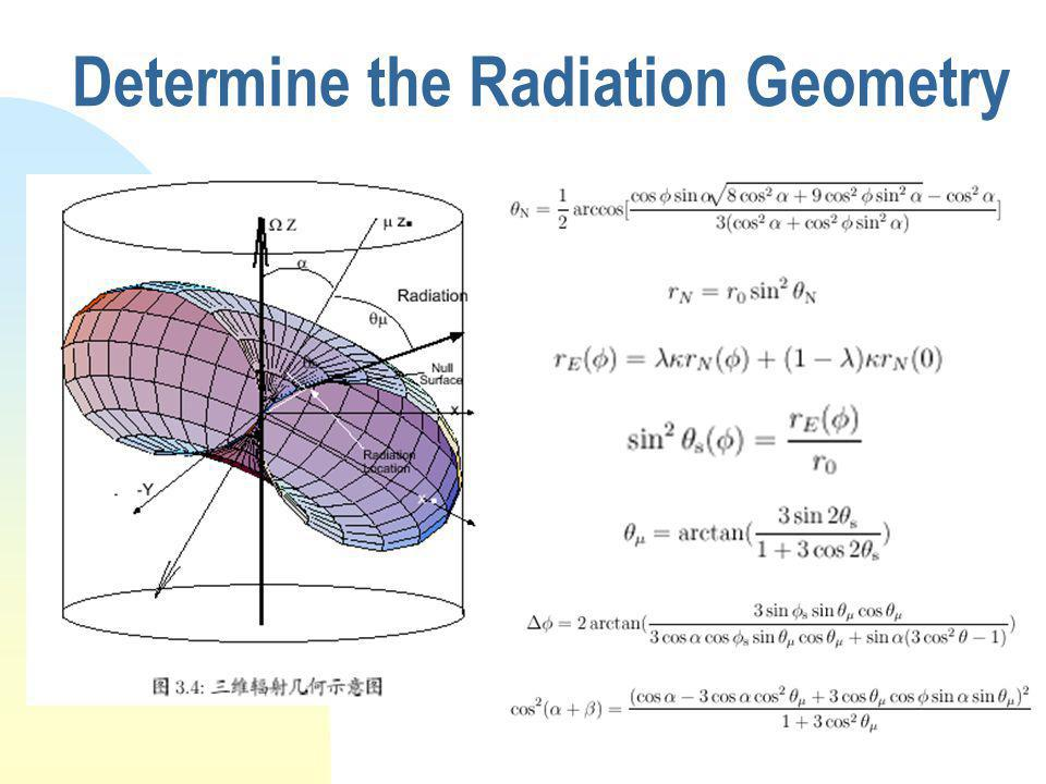 Determine the Radiation Geometry