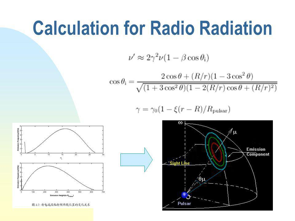 Calculation for Radio Radiation