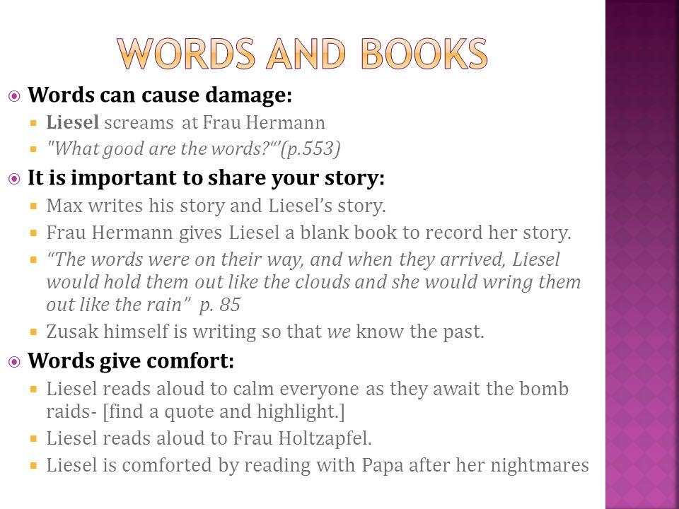 Words can cause damage: Liesel screams at Frau Hermann