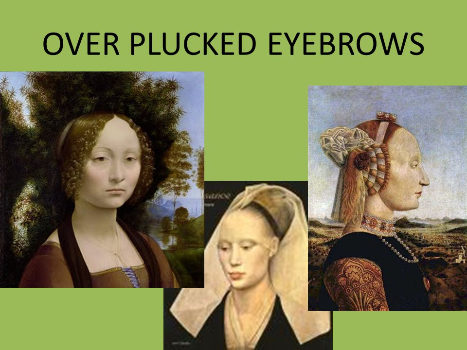 OVER PLUCKED EYEBROWS