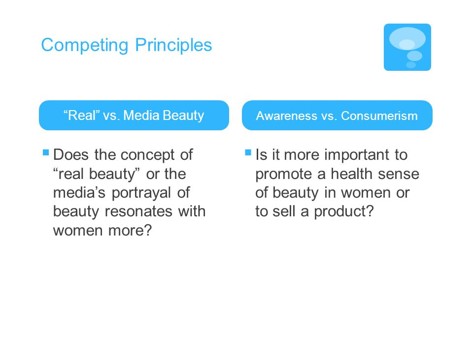 Competing Principles Real vs.
