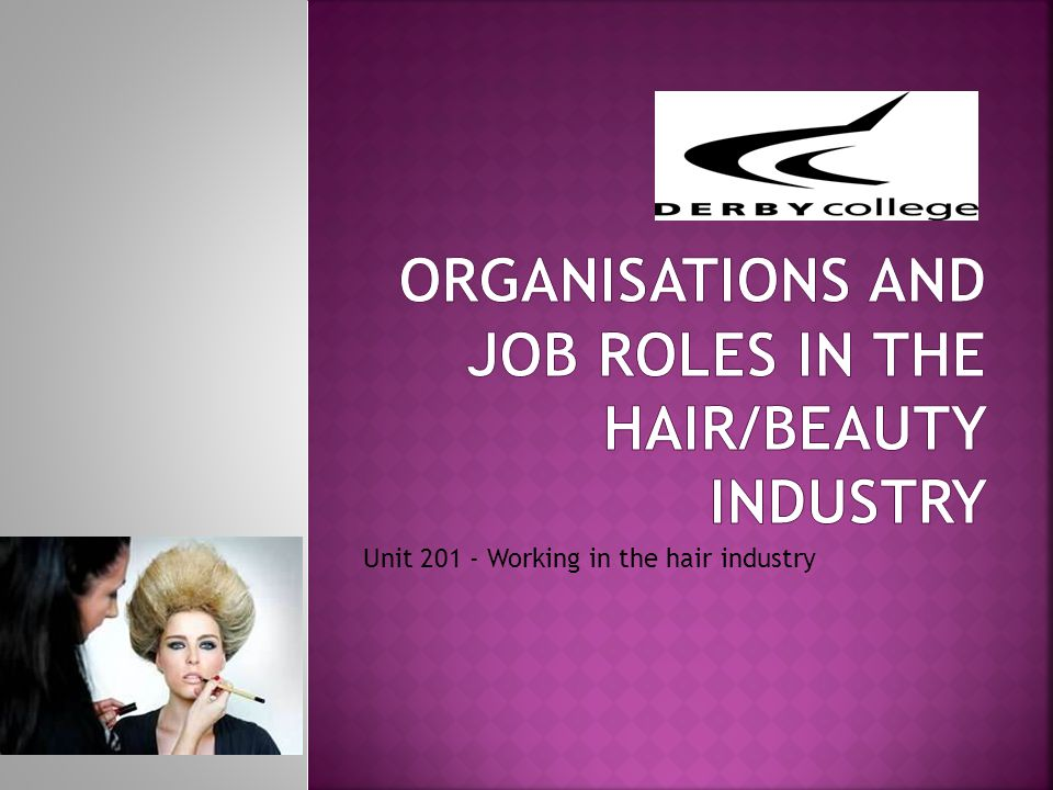Aim: To gain a greater knowledge of the types of organisations within the beauty related industries.