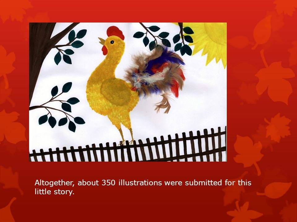 Altogether, about 350 illustrations were submitted for this little story.