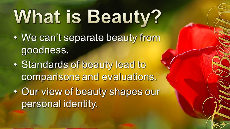 The Bible talks about physical beauty.