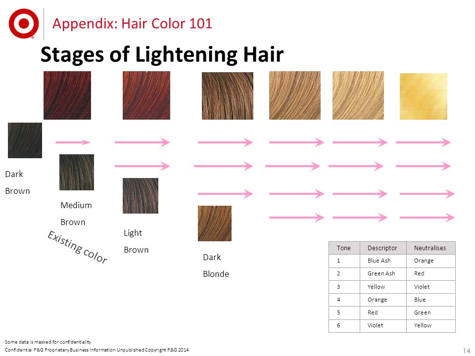 14 Confidential P&G Proprietary Business Information Unpublished Copyright P&G 2014 Some data is masked for confidentiality Stages of Lightening Hair
