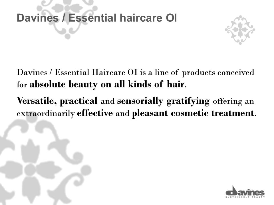 Davines / Essential Haircare OI is a line of products conceived for absolute beauty on all kinds of hair. Versatile, practical and sensorially gratify