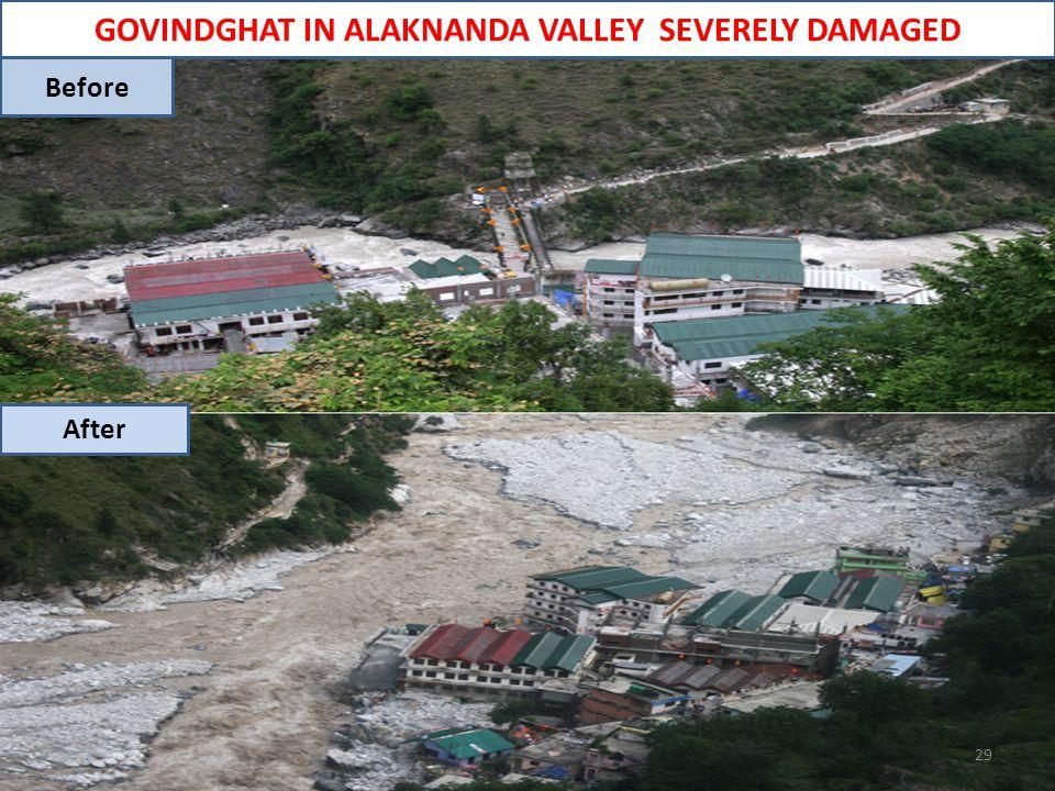 GOVINDGHAT IN ALAKNANDA VALLEY SEVERELY DAMAGED 29 Before After