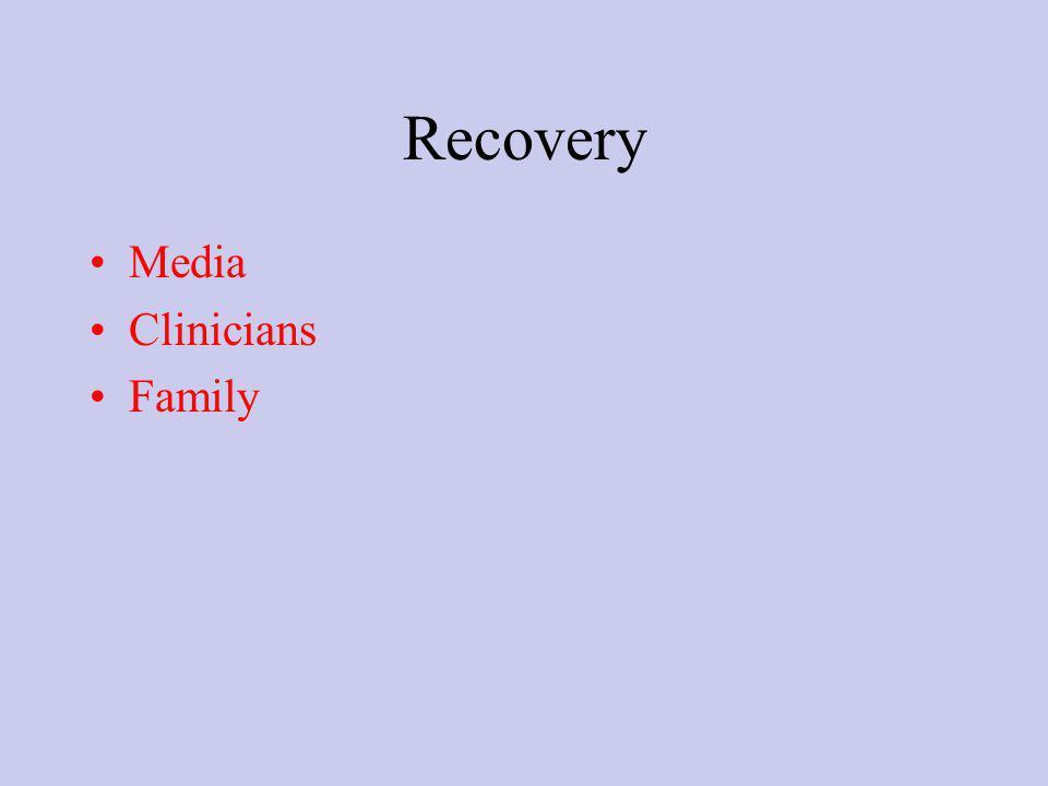 Recovery Media Clinicians Family