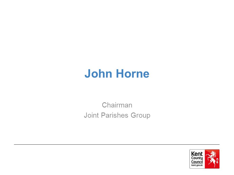 John Horne Chairman Joint Parishes Group