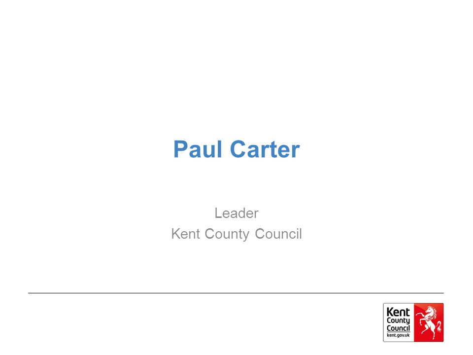 Paul Carter Leader Kent County Council