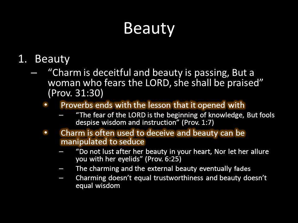 Beauty fades