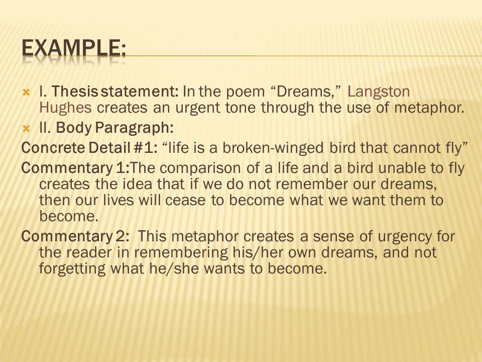 Langston hughes thesis statement