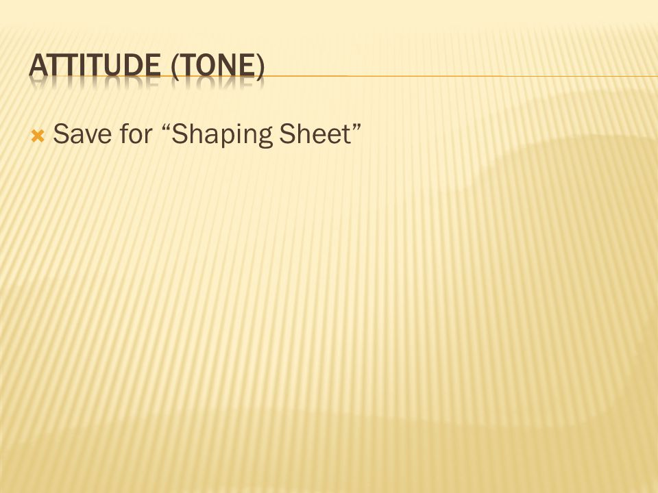 Save for Shaping Sheet