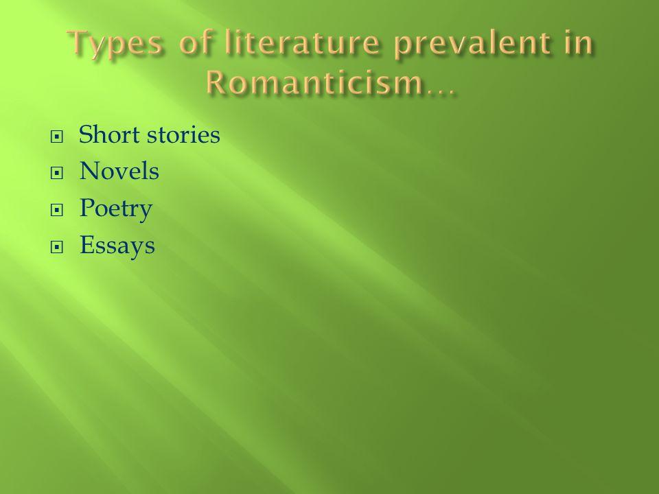 Short stories Novels Poetry Essays
