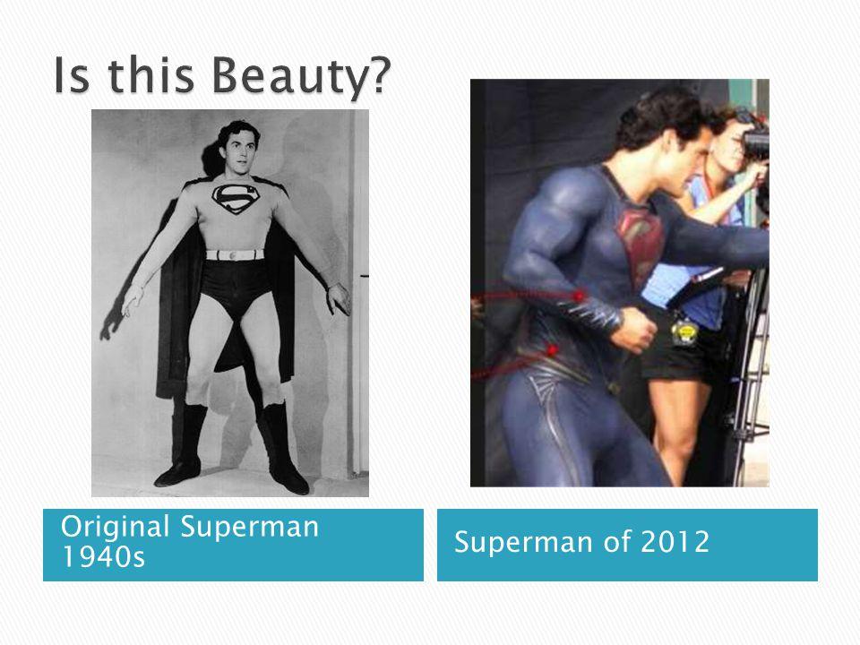 Original Superman 1940s Superman of 2012