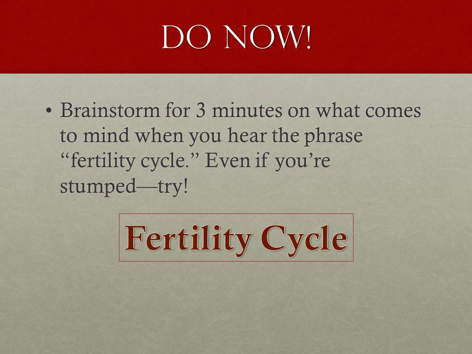 The Fertility Cycle BirthGrowth/LifeDeathRebirth