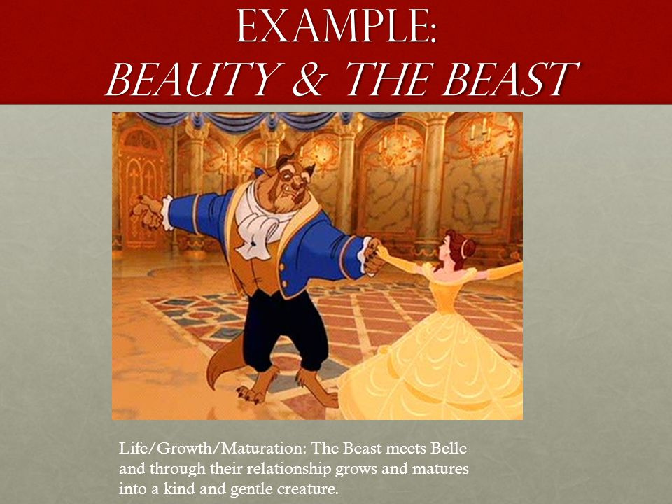Example: beauty & the beast Death: Dies in the fight with Gaston, Belle utters I love you.